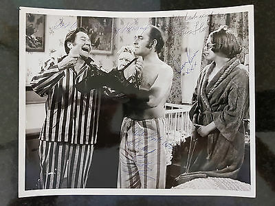Original MUTINY ON THE BUSES Cast Signed Press / Film Still Photograph steptoe