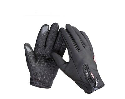 TRIXES Black Medium Outdoor Cold Weather Winter Sports Gloves with Touch Sensiti