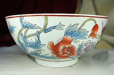 Lebrillo Chino con flores. Porcelana esmaltada. S.XX Chinese willow with flowers