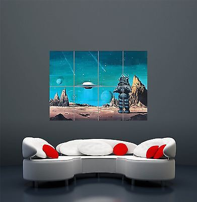 Forbidden Planet Movie Classic Cult Robby Robot Giant Art Poster Print  Wa474