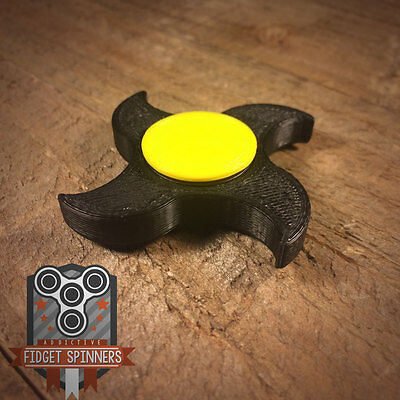 EDC Spinner 4 Point Shuriken Fidget Toy with Caps  **ships out within 24 hrs**