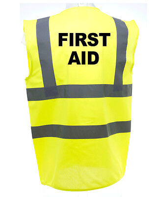 First Aid Hi-Vis Safety Vest Equestrian. High Viz Waistcoat Cycling Road