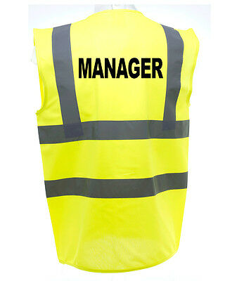 Manager Hi-Vis Safety Vest Equestrian. High Viz Waistcoat Cycling Road