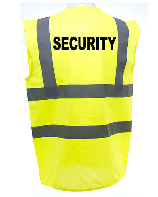 Security Hi-Vis Safety Vest Equestrian. High Viz Waistcoat Cycling Road
