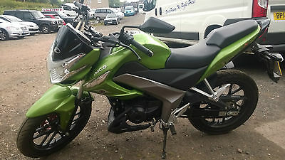2016 Kymco Ck1 125 Naked Sports Bike. Green. Low Miles.