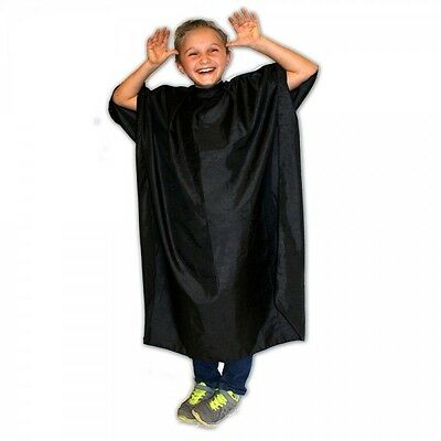 HAIR TOOLS CHILDRENS Black Cutting GOWN - Hairdresser Barber CHILD KIDS Cape