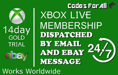 Xbox Live 14 Days 2 Weeks Gold Trial Code Instant Dispatch 14 Day 2 Week code