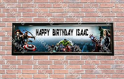 Personalized Customized The Avengers Name Banner Wall Decor Poster with Frame