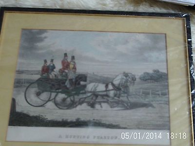 Hand Coloured Lithograph Hunting Phaeton by H Alken