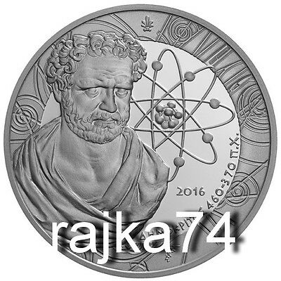 Griechenland - 10 Euro 2016 in SILBER - Demokrit in PP / PROOF