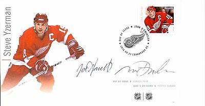 FDC NHL Hockey Forwards, Steve Yzerman, Signed / Autographed By Designers