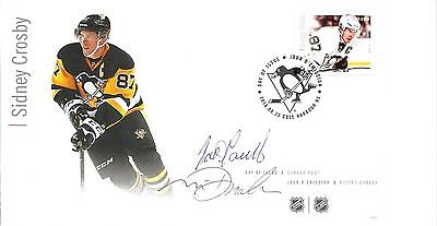 FDC NHL Hockey Forwards, Sidney Crosby, Signed / Autographed By Designers