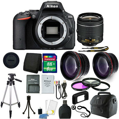 Nikon D5500 DSLR Camera with 18-55mm lens + Great Holiday Accessory Bundle