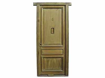 Antique 3 Panel Solid Door #D1187