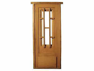 Antique Single Glass Door with Wooden Bars #D1020