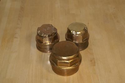 Large vintage brass railway nuts stoppers caps inscribed LNER (ref16510)