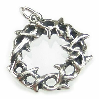 Crown of Thorns sterling silver charm .925 x 1 Holy Crown charms DKC44134