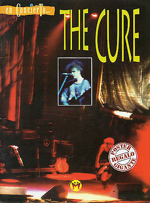 "The Cure ""en Concierto"" Rare Spanish Book+A2 Size Poster / Madrid 95 Concert"