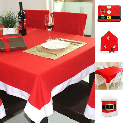 Holiday Christmas Santa Table Mat  Placemats Tablecloths Chair Cover Napkin ring