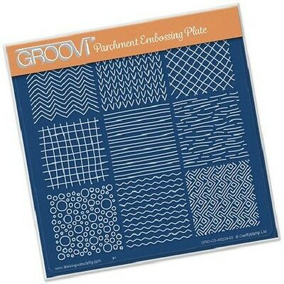 CLARITY STAMP GROOVI Parchment Embossing Plate TEXTURES GRO-PA-40224-03