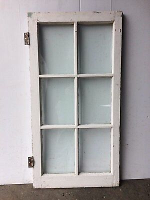 Antique 6 Lite Casement House Door Cabinet Window Sash Vintage 2085-16