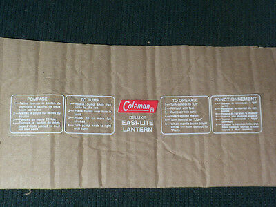Coleman Canada 321 321A 331 Lantern Fount Replacement Decal