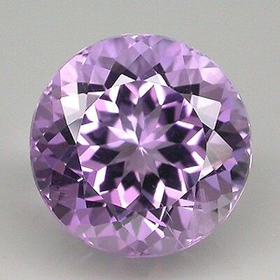 UNUSUAL 8mm ROUND-FACET LIGHT-PURPLE NATURAL BRAZILIAN AMETHYST GEMSTONE