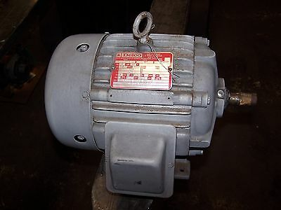 "New Delco 1-1/2"" Hp Ac Electric Motor 184 Frame 1145 Rpm 460 Vac 1G1554"