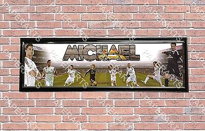 #2 Name Poster Sport Banner with Frame Personalized Customized Real Madrid C.F