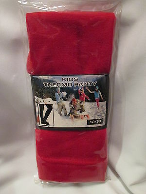 THERMO Strumpfhose Kinder ROT warm, isolierend Ski Winter Gr. 92/98