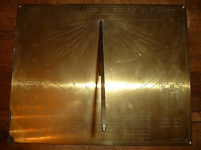 Beautiful Brass sun dial-The clock of life is wound but once-Trevor Baylis 1998