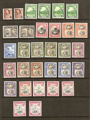 Grenada 1938 Lightly Mounted MINT Set SG 152-163 ALL PERFS (except sg157a/163d)