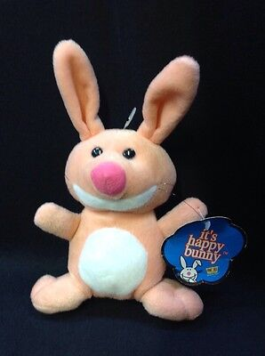 Pink  Happy Bunny Plush With Tags