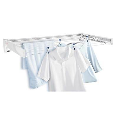 Leifheit Telegant 100 wall mounted clothes airer/dryer - white, 3 year guarantee