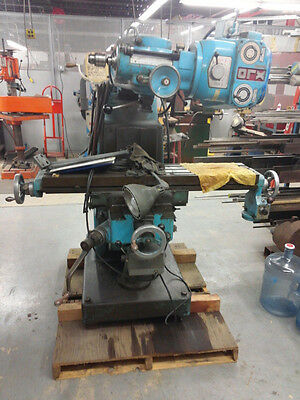 XLO Ram Turret Milling Machine style 602 high speed and auto feed non functional