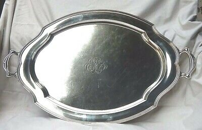 "Theodore B. Starr New York Sterling Silver 31"" Long Two Handle Tray Circa 1920'S"