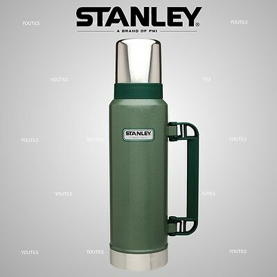 Stanley Classic Stainless Steel Vacuum Bottle Flask 1.3L Green / Navy