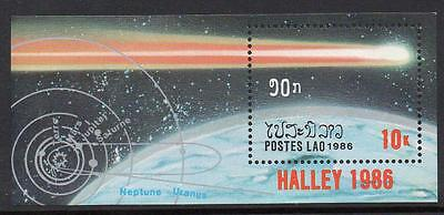 Laos MNH 1986 Appearance of Halley's Comet M/S