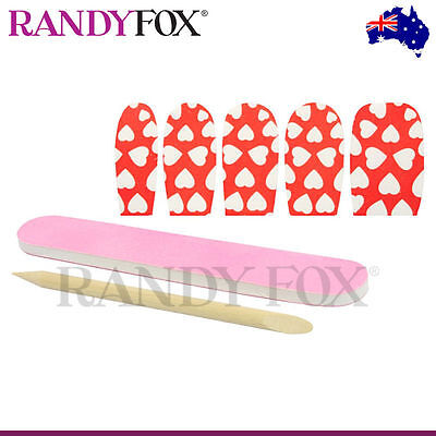NEW Xgen Llc Eye Candy Fingernails Lingerie Accessory - Red/White Hearts Nail Fo