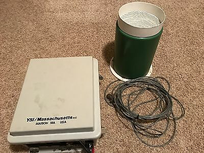 YSI 6200 Data Acquisition System & Fluid Isolation RG-2000-C Rain Gauge Untested