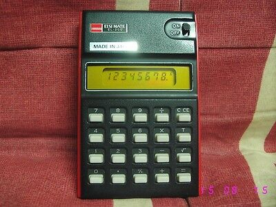 Calculadora SHARP Elsi Mate EL-200 vintage electronic calculator AÑOS 70 rare.