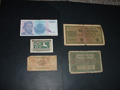 5 Old  World Banknotes  As In Picture   N18