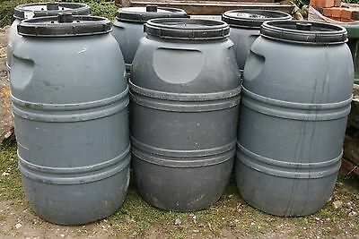 Water Butt Rain Collecting Barrel Plastic 45 gallon Recycled