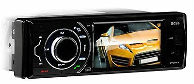 BOSS AUDIO BV7943 Single-DIN 3.6 inch Touchscreen DVD Player Receiver, Front