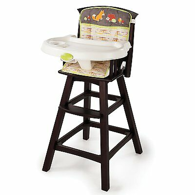 Summer Infant Classic Comfort Wood High Chair, Fox and...