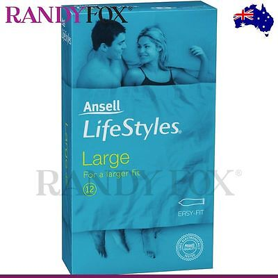 NEW Ansell Lifestyles 12s Large Condom