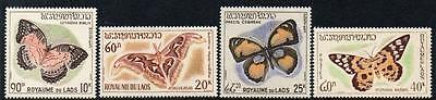 Laos MNH 1965 Butterflies and Moths