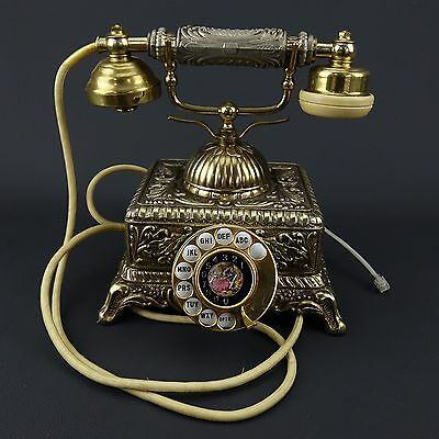 Vintage French Style Rotary Phone Telephone Model IMPERIAL Ornate Works Great!