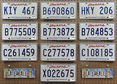 10 LOUISIANA Sportsman's Paradise License Plates Tags Signs Gift Shops LOT 467