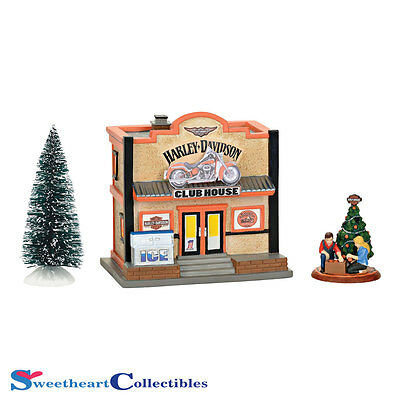 Department 56 Harley Davidson Clubhouse Box Set 4056176 New 2016
